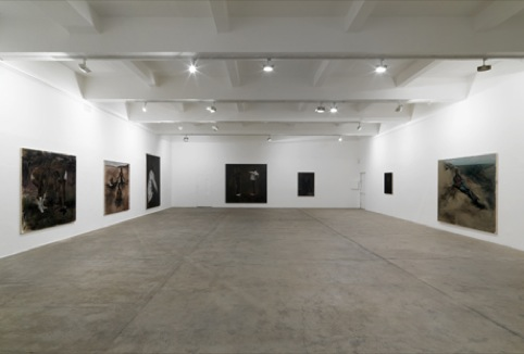 Lynette Yiadom-Boakye 2012 installation view at Chisenhale Gallery