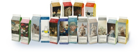 Milk cartons for the Rijksmuseum by Irma Boom