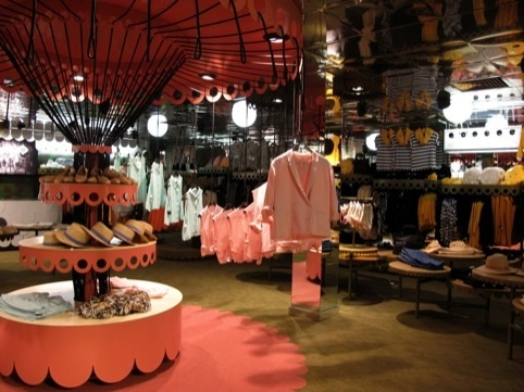Monki London store interiors