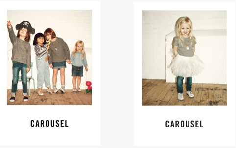 Carousel press cards