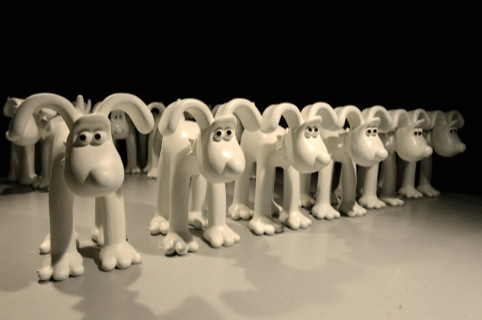A small army of unpainted Gromits