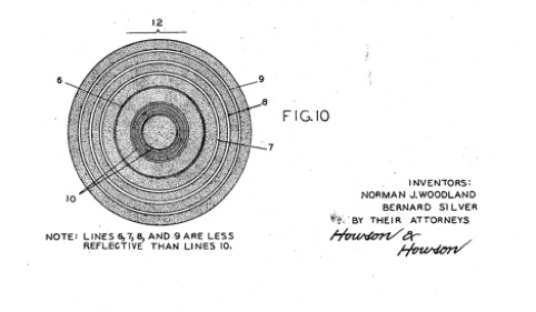 The patent for N. Joseph Woodland's barcode