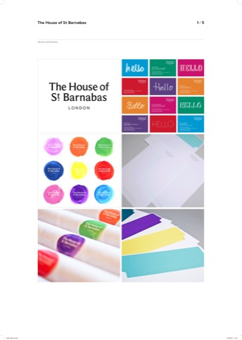 The House of St Barnabas branding by The Gild