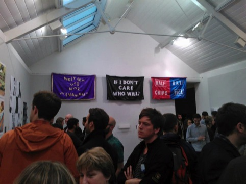 Banners by Craig Oldham at the After Hours show