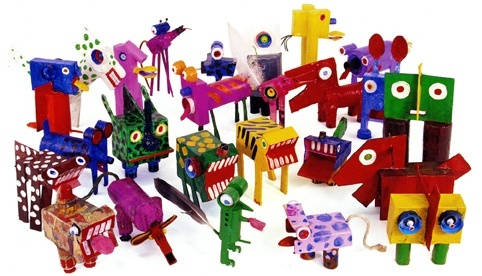 The menagerie of rubbish animals