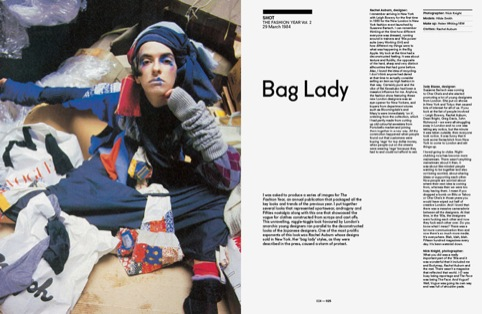 Bag Lady spread 1984