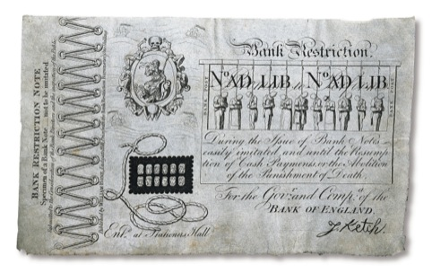 Bank Restriction Note by George Cruikshank 1819