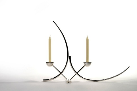 Silver Candlestick by Brett Payne