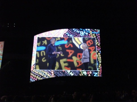 Paula Scher speaking at Adobe MAX