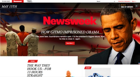 The new Newsweek front page