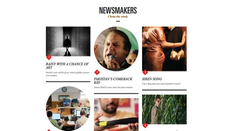 The new Newsmakers section