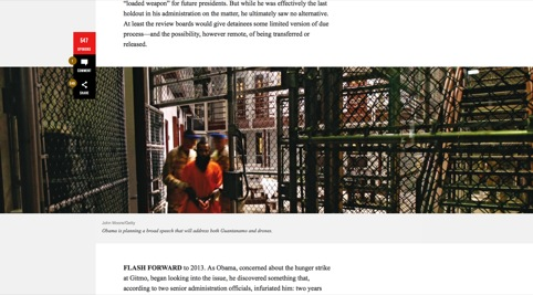 Example of an inline image in a story page