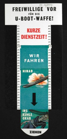 Freiwillige vor fur die U-Boot-Waffe! U-boat Volunteers Forward (animated leaflet)