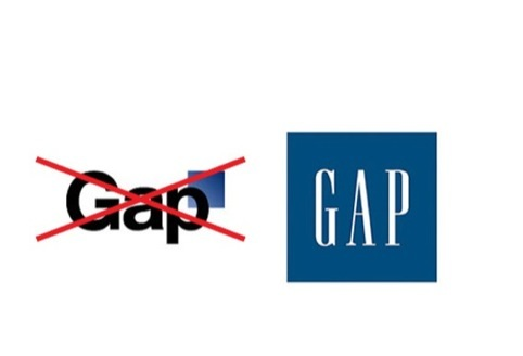 The shortlived Gap logo was scrapped for the original