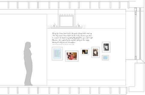 Amy Winehouse Jewish Museum exhibition elevation sketch