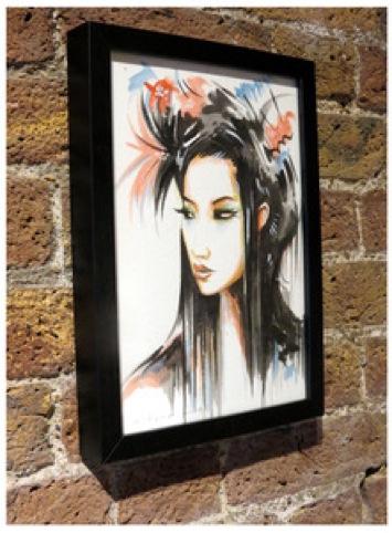 Geisha image from Tokyo neons series