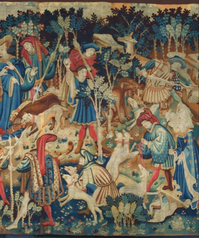 Detail of Devonshire Hunting Tapestry, 1425-30