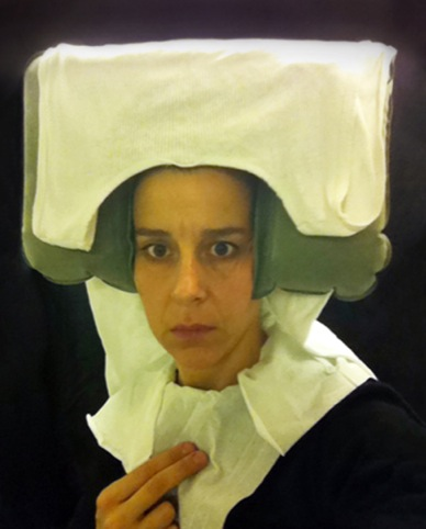 Nina Katchadourian, Lavatory Self-Portrait in the Flemish Style #11, 2011