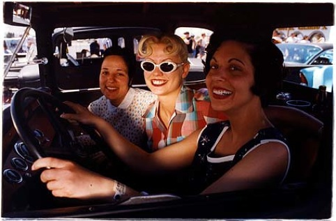 Lisa and girlfriends, Las Vegas 2001