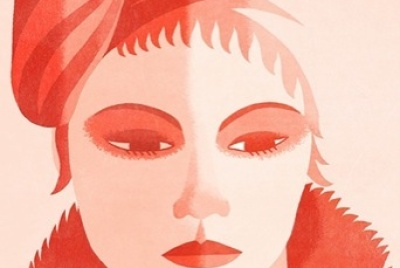 March issue illustration of Theresa Russell