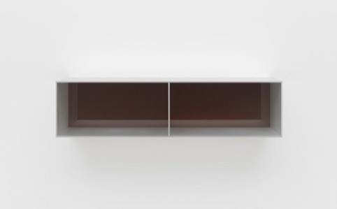 Untitled (Menziken 88-63), 1988  Anodized aluminum clear with brown Plexiglas