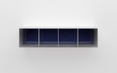 Untitled (Menziken 88-92), 1988 Anodized aluminum clear with blue Plexiglas