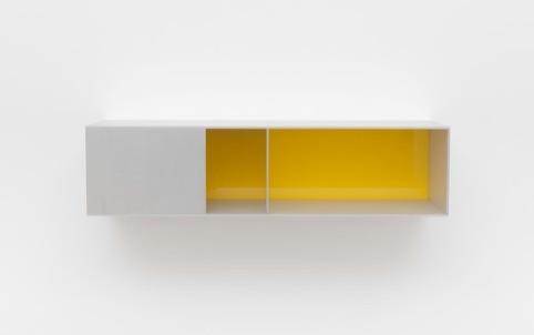 Untitled (Menziken 91-141), 1991 Anodized aluminum clear with yellow Plexiglas