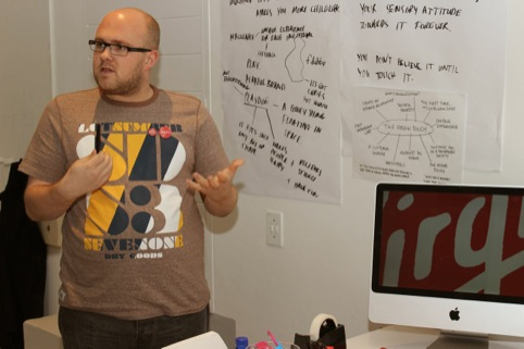 Samuel Jessup at the Virgin DesignLab Sensory Bootcamp