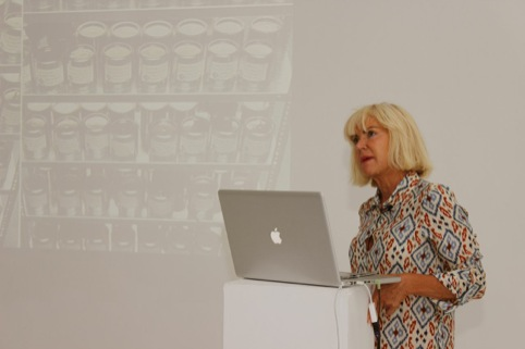 Sensory expert Sissel Tolaas giving her presentation at the DesignLab Sensory Bootcamp