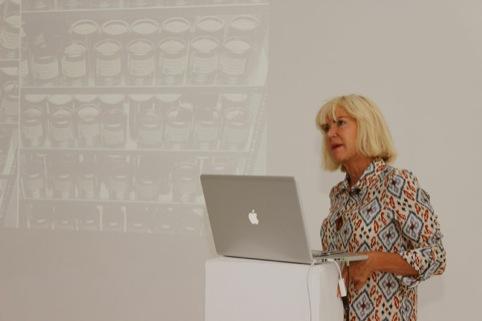 Sensory expert Sissel Tolaas giving her presentation at the DesignLab Sensory Bootcamp