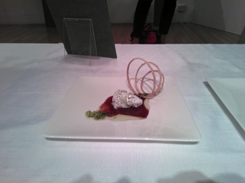 Tactile Food, by Minsu Kim (you can't tell from this photo, but the morsels are moving…)