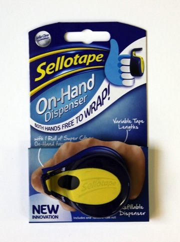 Sellotape On-Hand has been desigend by Factorydesign