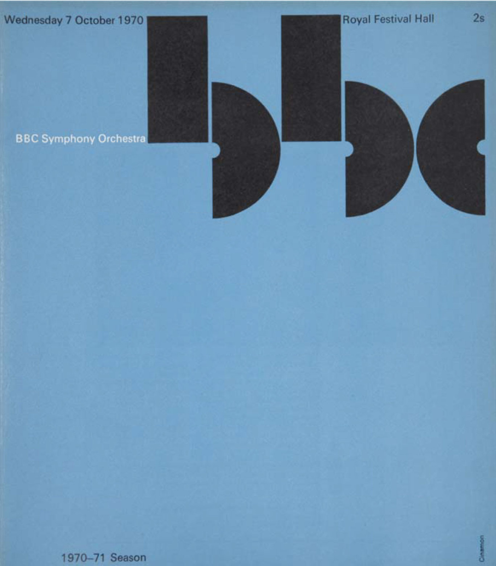 BBC Symphony Orchestra Programme, Cover 1970