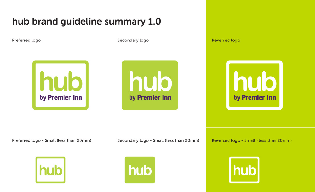 Taken from Hub by Premier Inn guidelines