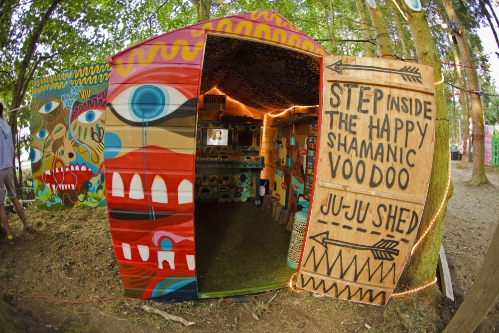 Step inside the happy shamanic voodoo  juju shed. Go on! Do it!. Image: Arlen Figgis