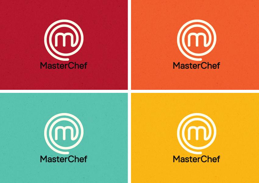 MasterChef logos in new bright colours