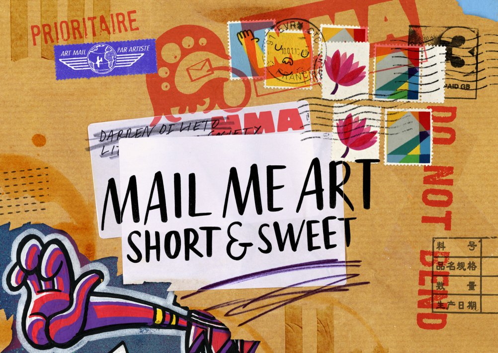 Mail Me Art, with logo by Beach