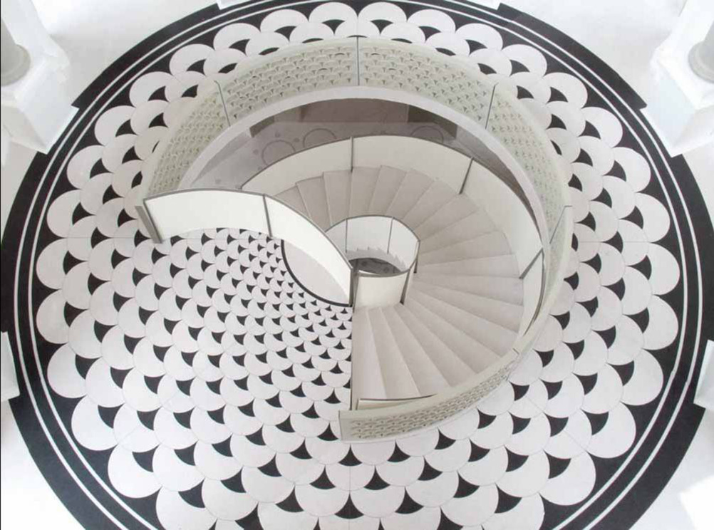 Model photograph of the new rotunda staircase