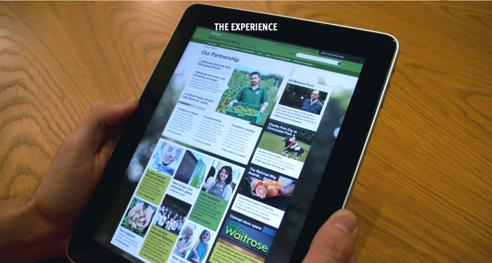 John Lewis social intranet on tablet