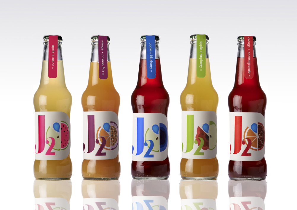 J2O rebrand by Morgan Swain, for the Design Bridge student awards