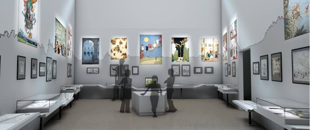 The permanent gallery exhibition