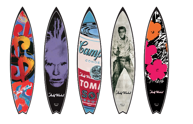 Warhol surfboards from Bessell's first series