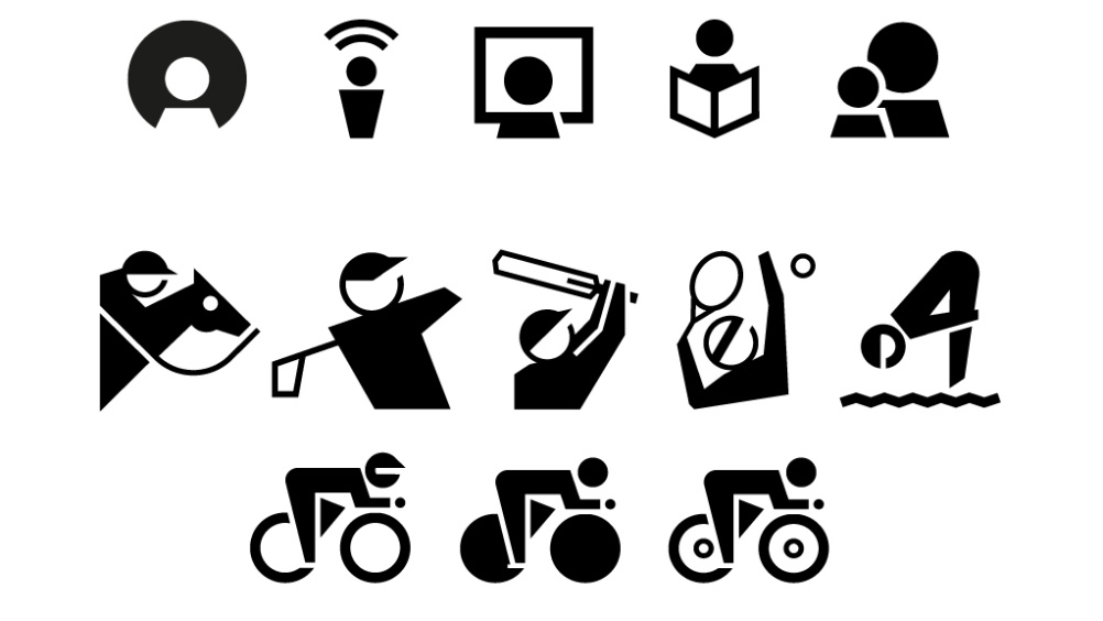 Early versions of the Sports icons, based on GEL guidelines