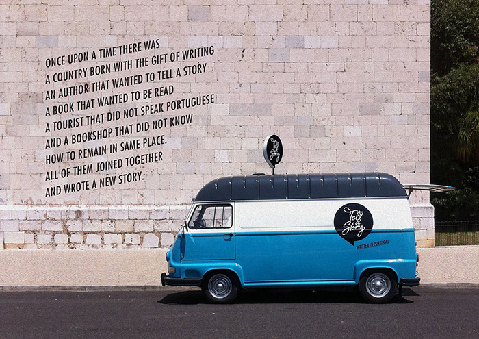 The Tell a Story van on tour in Lisbon
