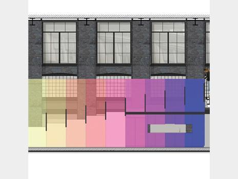 Concept image of Kvadrat's London showroom, by David Adjaye and Peter Saville