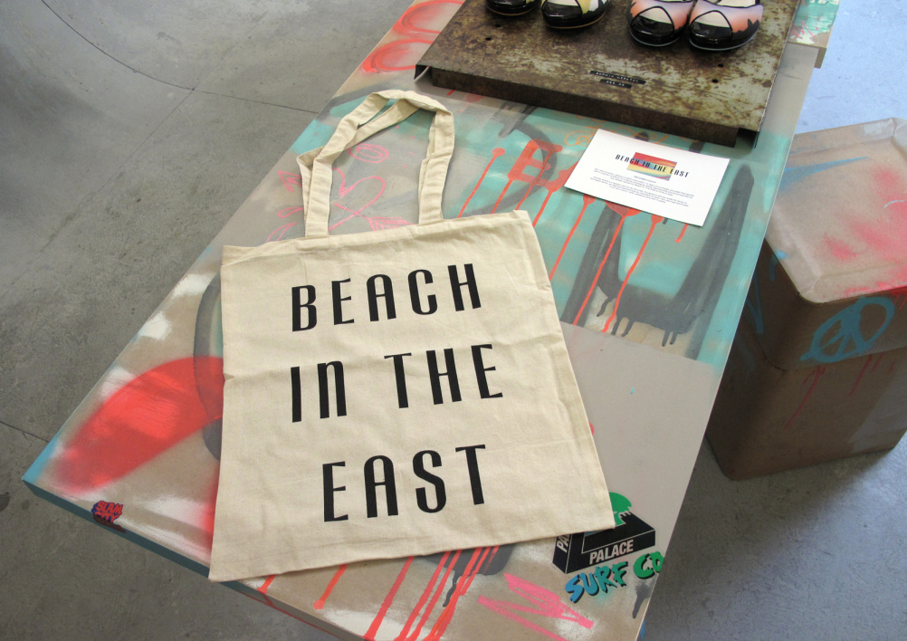 Beach in the East tote bag