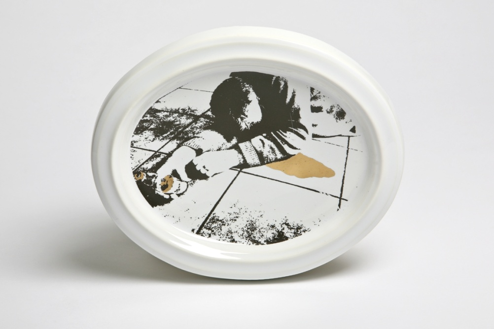 Booze Britain plate by Andrew Livingstone (2010)