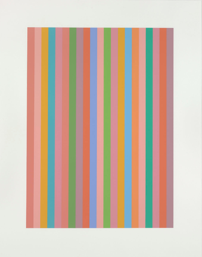 Bridget Riley, And About, 2011, Screenprint, Paper 71.0 x 55.4 cm, Edition of 120.