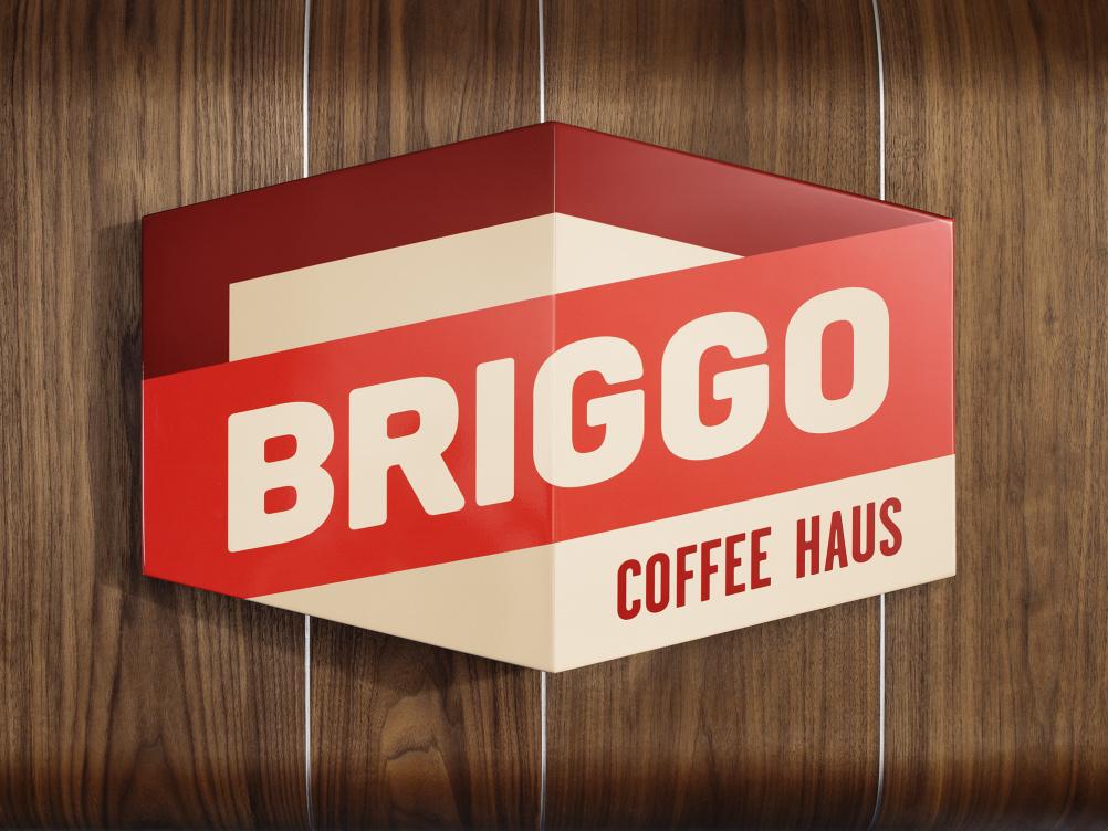 Briggo Coffee Haus sign