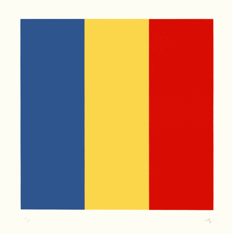 Ellsworth Kelly, Blue Yellow Red, 1990, Lithograph on Rives BFK paper, Edition of 80